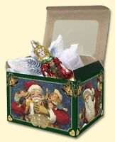 "5 EXTRA LARGE 7"" x  5.5"" x 5.5""  OLD WORLD CHRISTMAS CARDBOARD GIFT BOXES 14038"