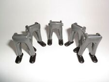 Playmobil. garde piernas pantalones Lang gris zapatos negro Royal Yuryatin pliegue