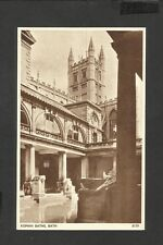 Vintage Sepia Postcard General View Roman Baths-at Bath unposted