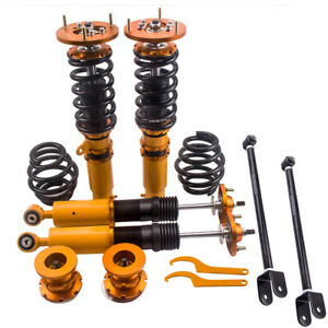 4x Coilover kit Suspension Amortiguador for BMW E46 3er 98-06 + 2x Control Arms
