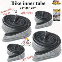 "Bike INNER TUBE 26"" 1.95 -2.125 Mountain Bike Bicycle Inner Tubes Sizes 26"" 28"""