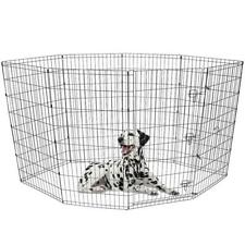 """48""""  Tall Dog Playpen Crate Fence Pet Play Pen Exercise Cage -8 Panel"""