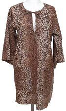D&G DOLCE & GABBANA Brown Leopard MINI LEO LOVE Beachwear Dress Cotton