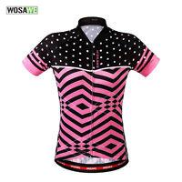 Womens Girls Red Biking Racing Tops Short Sleeve Cycling Jersey Bicycle Clothing