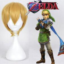 The Legend of Zelda Link Cosplay party wig short blonde wig +gift