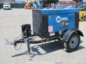 2018 Miller Big Blue 400 Pro Towable Welder Generator Diesel Kubota bidadoo