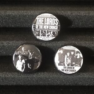 Lords Of The New Church Concert Poster Flyer Button Pin Stiv Bators Badge Set