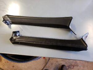 Nice Pair A Pillar Trim Cover 1969 1970 Buick Electra Wildcat Lesabre Black 2 Dr