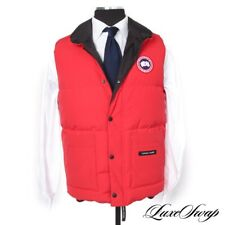 LNWOT #1 MENSWEAR Canada Goose Red 4125M Freestyle Down Fill Puffer Gilet Vest S