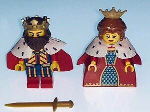 LEGO GENUINE CLASSIC MEDIEVAL KING AND QUEEN IDEAL FOR 21325 OR 31120 - NEW