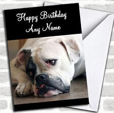 Triste Bulldog Americano Perro Tarjeta De Cumpleaños Personalizadas