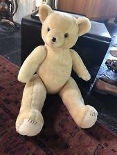 Large Big Vintage Shanghai Doll Factory Jointed Teddy Bear Wool Plush Fur