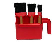 Profi Maler Flachpinsel Set inklusive Farbwanne Pinsel 20mm/40mm/60mm Dekor 1392
