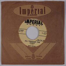 BOB WINN: All Through the Night IMPERIAL '57 Teen Rocker 45 PROMO VG++ Hear