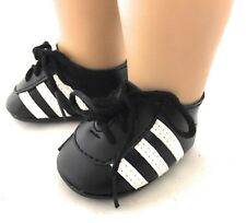 """Red Striped Sports Socks /& Soccer Cleats for 18/"""" American Girl Boy Logan Doll"""