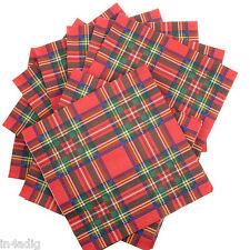 Royal Stewart Rojo Tartán Servilletas de papel