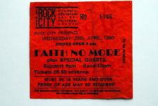 FAITH NO MORE NOTTIGHAM ROCK CITY ORIGINAL RARE TICKET 25/4/1990 REAL THING TOUR