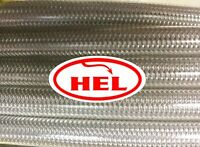 CLEAR HONDA CB400 Super Four 98-00 RACE SETUP HEL BRAIDED BRAKE LINES
