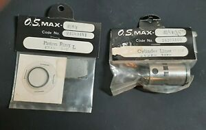 OS Max 40 RC Plane Engine Cylinder Liner Piston Ring Set New Old Stock