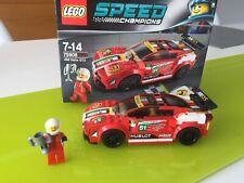 Lego Ferrari 458 Italia campeones de velocidad GT2 - 75908-edad 7-14yrs 100% Completo