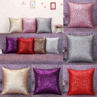 Glitter Sequins Throw Pillow Cases Cafe Sofa Car Cushion Covers Bed Home Decor