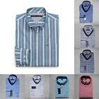 TOMMY HILFIGER MEN PLAID SHIRT ALL SIZES NWT white blue 100% cotton chest pocket