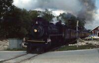 CANADIAN PACIFIC 1293 Railroad Steam Engine Locomotive Original Photo Slide