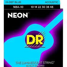 DR Acoustic Guitar Strings K3™ NEON™ Hi-Def© Blue Extra Light 10-48 NBA-10