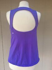 Lululemon Women's  Tank Top Light Purple Cut Out Back  Size 12 GUC
