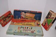 Set of 5 Vintage 1950's Light Set Strings - Gem/Noma/Holly-Lite/Dialco/Winklgems