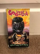 GODZILLA MONSTER TWO PACK King of the Monsters & Vs Megalon VHS VIDEO TAPES