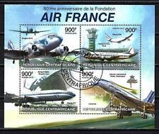 Avions Centrafrique (64) série complète de 4 timbres oblitérés