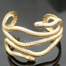 Egypt Cleopatra Gold Swirl Snake Arm Cuff Armlet Armband Bangle Bracelet Cuff