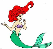 New listing Disney little mermaid fabric applique iron on not embroidered 7 inch