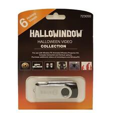 Halloween Window FX Mark Gervais Collection USB 6 Videos for Projector - New!