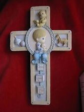 "1999 Vintage Precious Moments ""Jesus Loves Me"" Cross Wall Hanging"