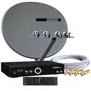 Russische TV 1-TV Sat-Anlage  Maximum E-85 Full HDTV Sat-Receiver voreingestellt