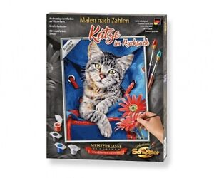 Schipper 609240842 - Malen Nach Zahlen - Katze im Rucksack - Neu