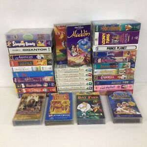 Collection x 35 Children's VHS Tapes Movies G Rating #453