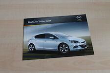 99737) Opel Astra Edition Sport Prospekt 08/2011