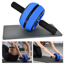 AB Abdominal Roller Wheel Fitness Waist Core Workout Exercise Knee Mat with Gym