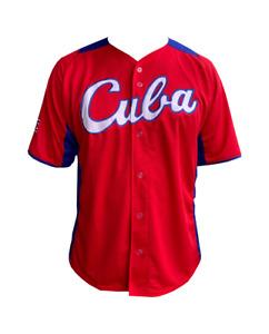 CUBA BASEBALL JERSEY RED & BLUE