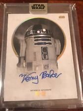 Star Wars Stellar KENNY BAKER as R2-D2 Base Autograph 38/40 Auto Signature
