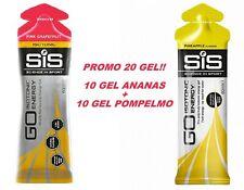 20 GEL SIS isotonici sport recupero energetici integratori OFFERTA gusti 2 x 10