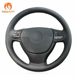 Black Leather Car Steering Wheel Cover for BMW F10 F07 F11 F01 F02 L4