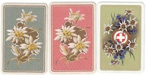 VINTAGE EDELWEISS  (3)  swap/playing cards