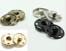 10mm ,15mm 19mm 21mm 30mm Metal Snap Fastener Spring Press Studs Button Sew on