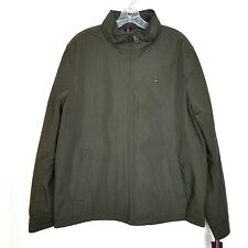 Tommy Hilfiger Mens Poly Twill Stand Up Collar Zip Front...
