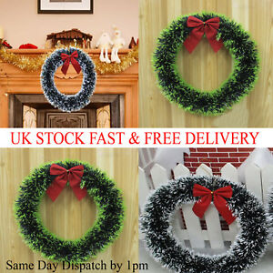 Christmas Wreath Door Hanging Artificial Garland Wall Festival Xmas Window UK