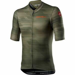 NEW Castelli Men's Rapido Jersey, Military Green, Large
